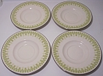 FRANCISCAN POTTERY FINE CHINA GABRIELLE SET/4 SAUCERS!