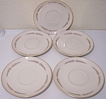 FRANCISCAN POTTERY FINE CHINA MOUNTAIN LAUREL 5 SAUCERS