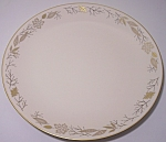 FRANCISCAN POTTERY FINE CHINA GOLD LEAVES DINNER PLATE!