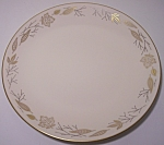 FRANCISCAN POTTERY FINE CHINA GOLD LEAVES SALAD PLATE!