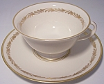 FRANCISCAN POTTERY FINE CHINA ARCADIA GOLD CUP/SAUCER!