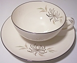 FRANCISCAN POTTERY FINE CHINA SILVERMIST CUP/SAUCER SET