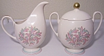 FRANCISCAN POTTERY FINE CHINA ROSSMORE CREAMER/SUGAR!