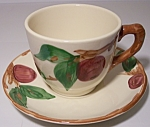 FRANCISCAN POTTERY APPLE U.S.A. CUP/SAUCER SET!