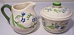 FRANCISCAN POTTERY FORGET-ME-NOT CREAMER/SUGAR BOWL!