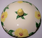 FRANCISCAN POTTERY MEADOW ROSE LG CASSEROLE LID!