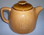 FRANCISCAN POTTERY WHEAT SUMMER TAN TEAPOT W/LID!