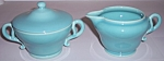 FRANCISCAN POTTERY EL PATIO GLACIAL BLUE CREAMER/SUGAR!