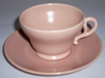 FRANCISCAN POTTERY EL PATIO SATIN CORAL CUP/SAUCER!