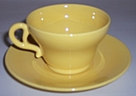 Franciscan Pottery El Patio Gloss Yellow Cup/Saucer Set