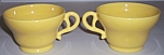 FRANCISCAN POTTERY EL PATIO GLOSS YELLOW PAIR CUPS!