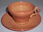FRANCISCAN POTTERY EL PATIO GOLDEN GLOW CUP/SAUCER SET!