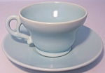 FRANCISCAN POTTERY EL PATIO SATIN AQUA CUP/SAUCER SET!