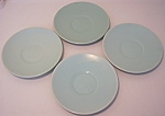 FRANCISCAN POTTERY EL PATIO SATIN AQUA SET/4 SAUCERS!