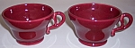 FRANCISCAN POTTERY EL PATIO MAROON PAIR CUPS!
