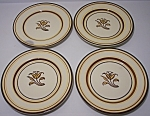 FRANCISCAN POTTERY PADUA SET/4 BREAD PLATES!