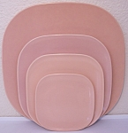 FRANCISCAN POTTERY METROPOLITAN CORAL BREAD PLATE!