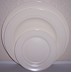 FRANCISCAN POTTERY MONTECITO SATIN IVORY SET/3 PLATES!
