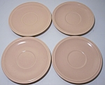 FRANCISCAN POTTERY MONTECITO SATIN CORAL SET/4 SAUCERS!