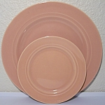 FRANCISCAN POTTERY MONTECITO GLOSS CORAL BREAD PLATE!