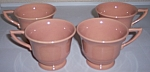 FRANCISCAN POTTERY MONTECITO GLOSS CORAL SET/4 CUPS!