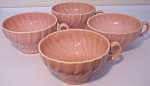 FRANCISCAN POTTERY CORONADO GLOSS CORAL SET/4 CUPS!