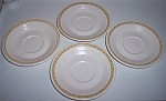 FRANCISCAN POTTERY HACIENDA GOLD SET/4 SAUCERS!