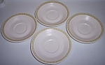 FRANCISCAN POTTERY HACIENDA GREEN SET/4 SAUCERS!