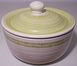 FRANCISCAN POTTERY HACIENDA GREEN SUGAR BOWL W/LID!