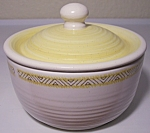 FRANCISCAN POTTERY HACIENDA GOLD SUGAR BOWL W/LID!