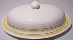 FRANCISCAN POTTERY HACIENDA GOLD BUTTER DISH W/LID!