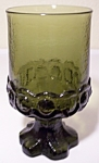 FRANCISCAN POTTERY MADEIRA CRYSTAL OLIVE WATER GLASS!