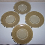FRANCISCAN POTTERY PEBBLE BEACH SET/4 SAUCERS!