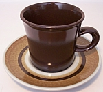 Franciscan Pottery Nut Tree Cup & Saucer Set! MINT