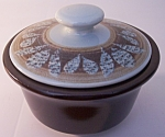 FRANCISCAN POTTERY NUT TREE SUGAR BOWL W/LID!