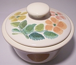 FRANCISCAN POTTERY FLORAL SUGAR BOWL W/LID!