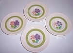 FRANCISCAN POTTERY FLORAL SET/4 SAUCERS!