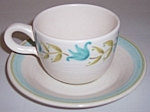 FRANCISCAN POTTERY TULIP TIME CUP/SAUCER SET!