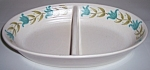 FRANCISCAN POTTERY TULIP TIME DIVIDED VEGETABLE BOWL!
