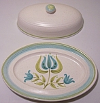 FRANCISCAN POTTERY TULIP TIME BUTTER DISH W/LID!
