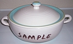 Click to view larger image of FRANCISCAN POTTERY TULIP TIME CASSEROLE W/LID! (Image1)