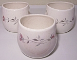 FRANCISCAN POTTERY DUET SET/3 SUGAR BOWLS!