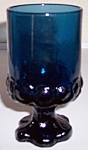 FRANCISCAN POTTERY MADEIRA CRYSTAL BLUE WINE/JUICE!