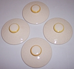 FRANCISCAN POTTERY GOLDEN WEAVE SET/4 SUGAR BOWL LIDS!