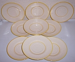 FRANCISCAN POTTERY GOLDEN WEAVE SET/9 SAUCERS!