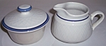 FRANCISCAN POTTERY DUTCH WEAVE CREAMER/SUGAR SET!
