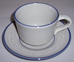 FRANCISCAN POTTERY DUTCH WEAVE CUP/SAUCER SET!