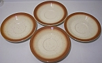 FRANCISCAN POTTERY  COUNTRY CRAFT RUSSET SET/4 SAUCERS!