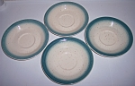FRANCISCAN POTTERY  COUNTRY CRAFT BLUE SET/4 SAUCERS!