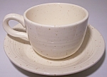 FRANCISCAN POTTERY  COUNTRY CRAFT ALMOND CREAM CUP/SAU!